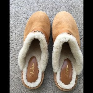 Cole Haan Suede Mules Sz 7 1/2 like new
